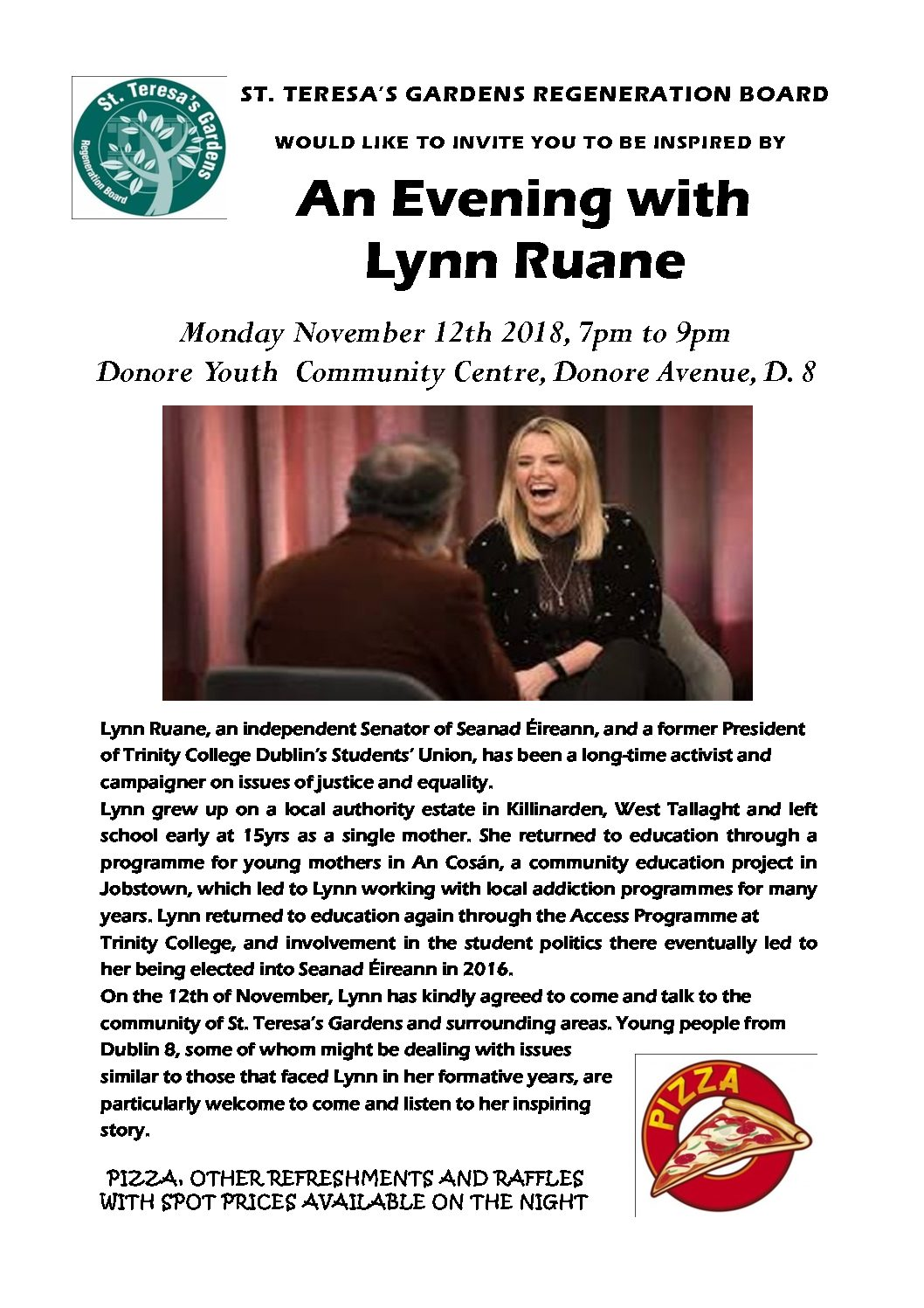 An Evening with Lynn Ruane