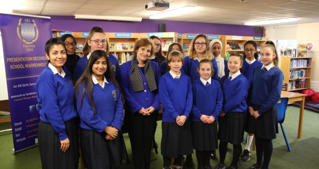 Alice Albright Visits Warrenmount; Features in Irish Times!